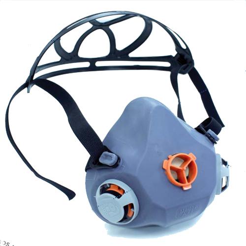 máscara buconasal de 1 filtro para tóxicos e infecciosos