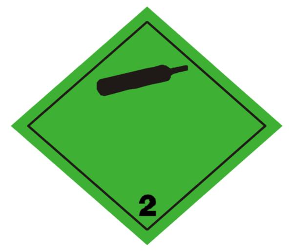etiqueta adr clase 2.2