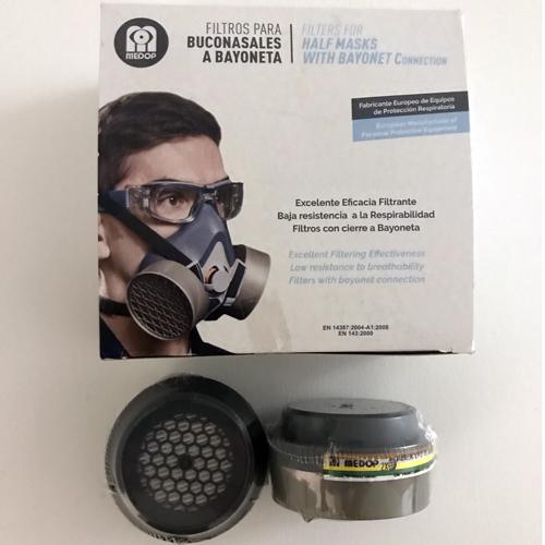 Máscara industrial con filtro máxima protección.