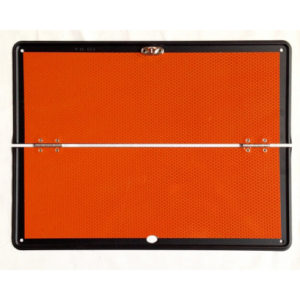 panel naranja plegable sin raya