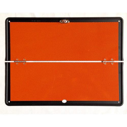 panel naranja plegable sin raya