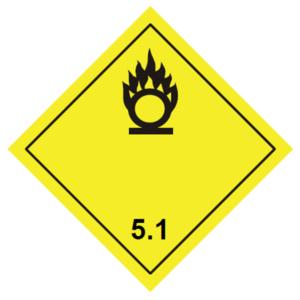 placa adr peligro clase 5.1