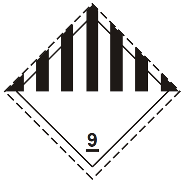 placa adr clase 9