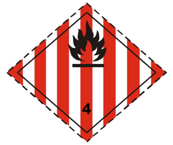 placa adr peligro clase 4.1