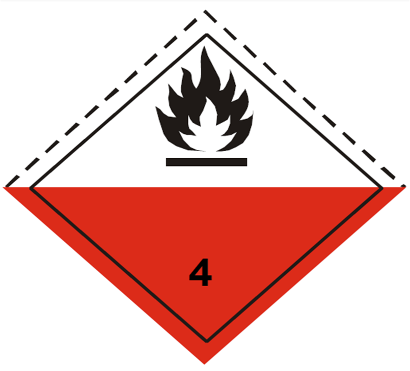 placa adr peligro clase 4.2