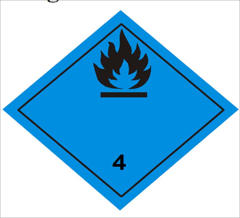 Placa adr peligro clase 4 3 30 x 30 cm aluminio placas adr - Placas de aluminio ...