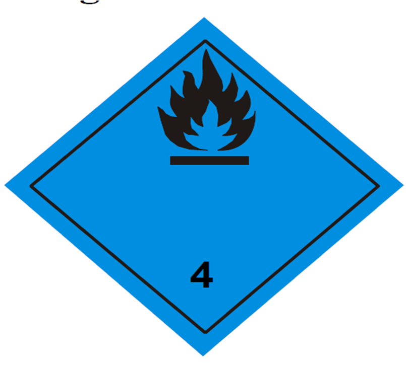 placa adr peligro clase 4.3