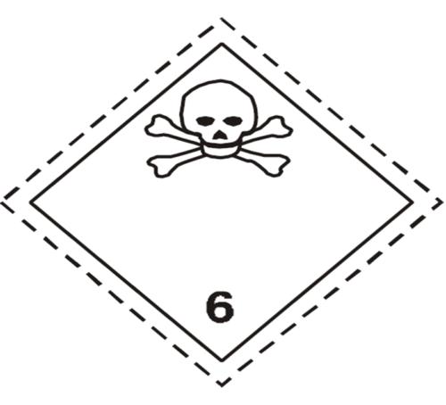 placa adr peligro clase 6.1