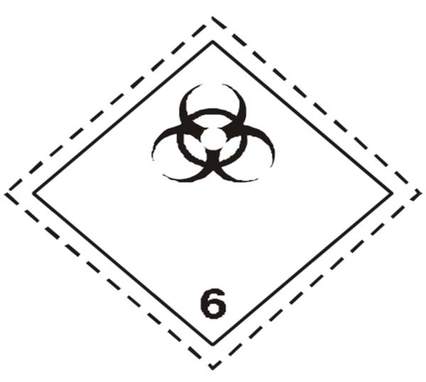 placa adr peligro clase 6.2