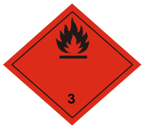 placa adr clase 3
