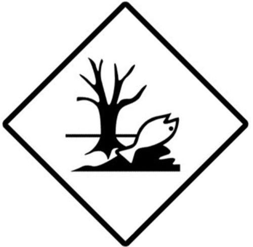 Placa Adr marca de peligro medioambiente