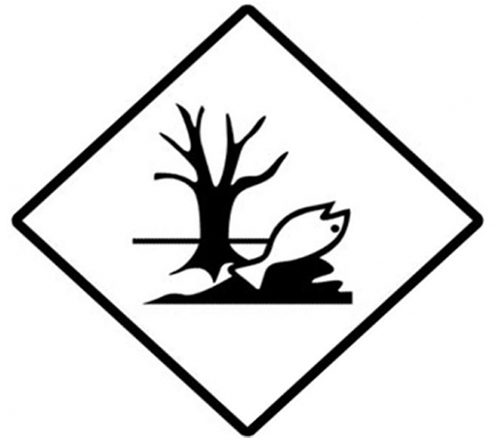 Etiqueta ADR árbol y pez muerto (30x30cm)