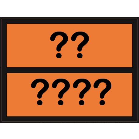 Panel naranja adhesivo de 30x40cm con números personaizables