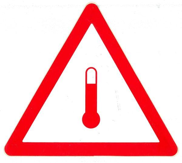 Etiqueta marca ADR transporte en caliente