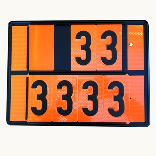 Panel Naranja ADR números intercambiables