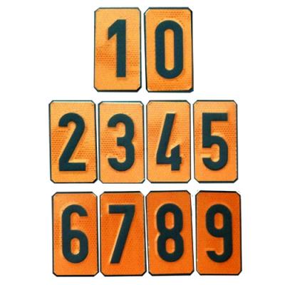 Números intercambiables para el Panel Naranja reflexivo