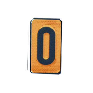 """Un número """"0"""" Panel naranja ADR"""