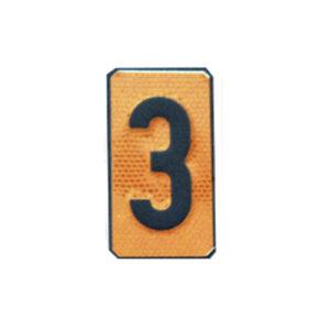 """Un número """"3"""" Panel naranja ADR"""