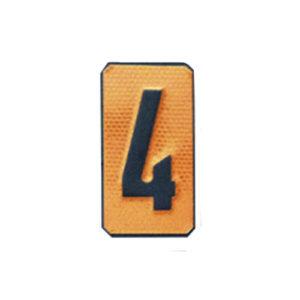 """Un número """"4"""" Panel naranja ADR"""