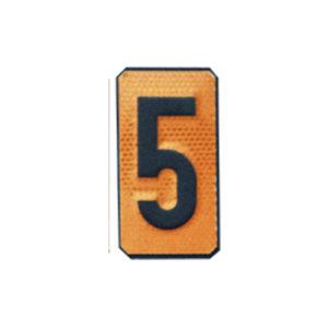 """Un número """"5"""" Panel naranja ADR"""