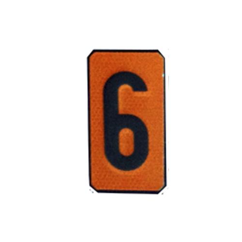 """Un número """"6"""" Panel naranja ADR"""