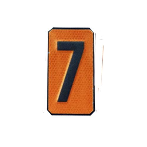 """Un número """"7"""" Panel naranja ADR"""
