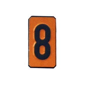 """Un número """"8"""" Panel naranja ADR"""