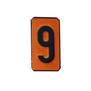 """Un número """"9"""" Panel naranja ADR"""