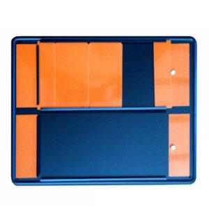 Panel naranja para números intercambiables