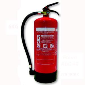 Extintor polvo de 6kg