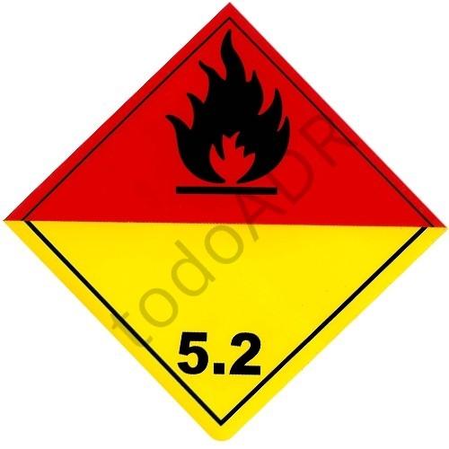 Etiqueta clase 5.2 PERÓXIDOS ORGÁNICOS
