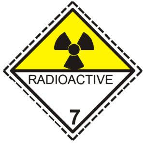 etiqueta materias radiactivas clase 7
