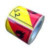 etiquetas ADR clase 5.2 en rollos de 10x10cm