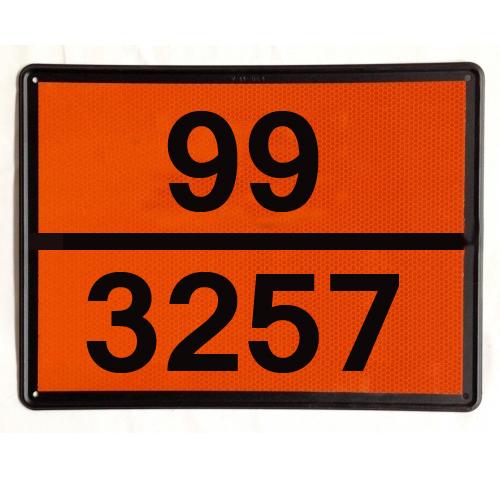 Panel Naranja ADR con números troquelados