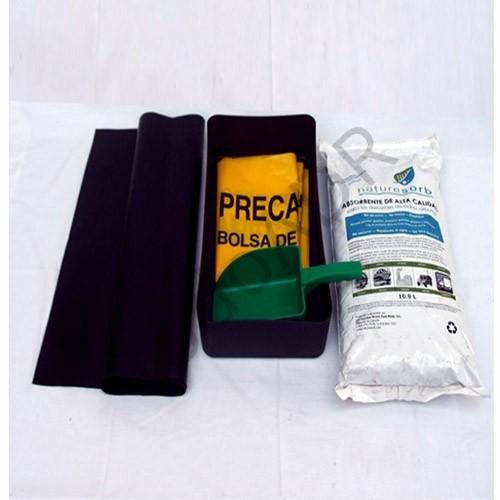 Cubeto. pala antichispas, bolsa de residuos y Naturesorb NS10