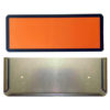Soporte y panel naranja pequeño