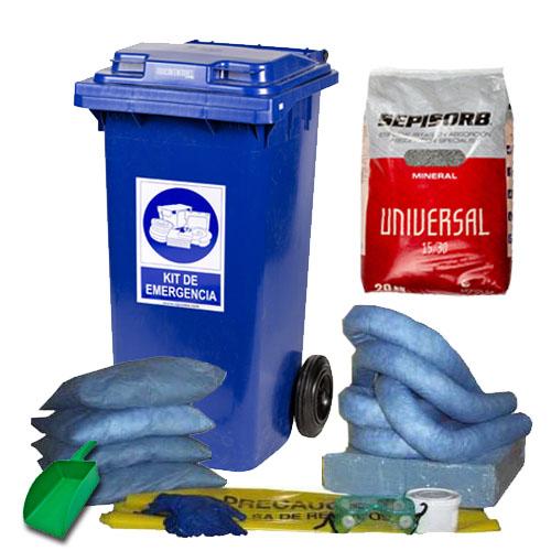 Spill kit 120 L antiderrames para hidrocarburos
