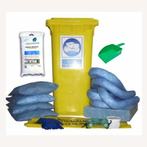 Kit antiderrame 125L con absorbentes