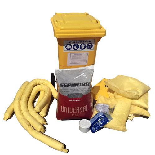 Spill kit antiderrames para productos químicos