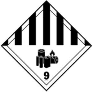 Nueva etiqueta clase 9A Baterías de litio