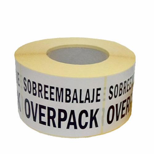 Bobina adhesiva Sobreembalaje Overpack para transporte ADR
