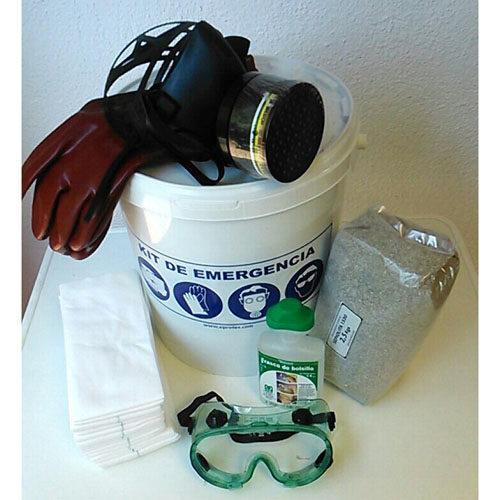 Kit básico EPIs con absorbentes para productos químicos ADR y APQ