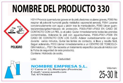 Etiqueta de producto CLP y REACH