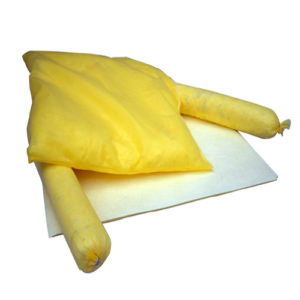 Set absorbentes de fibra para productos químicos