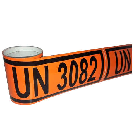 Panel naranja reducido en adhesivo
