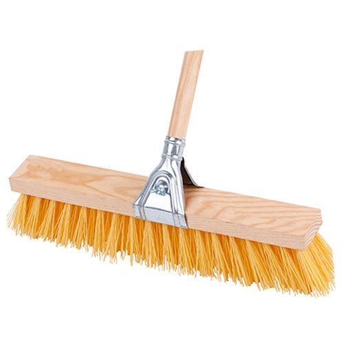 Cepillo de polipropileno y madera para residuos