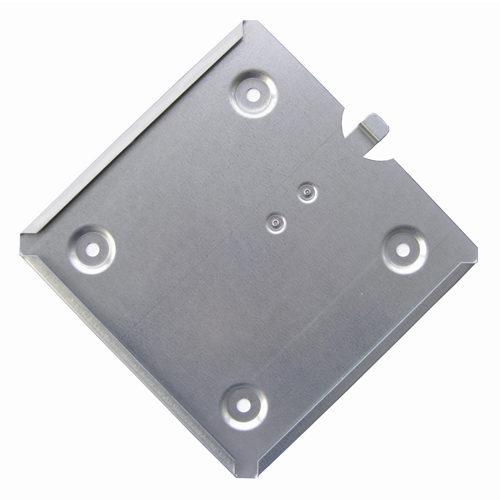 soporte placa de peligro con lengueta antivolcado