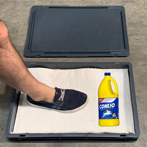 Estación limpieza de calzado