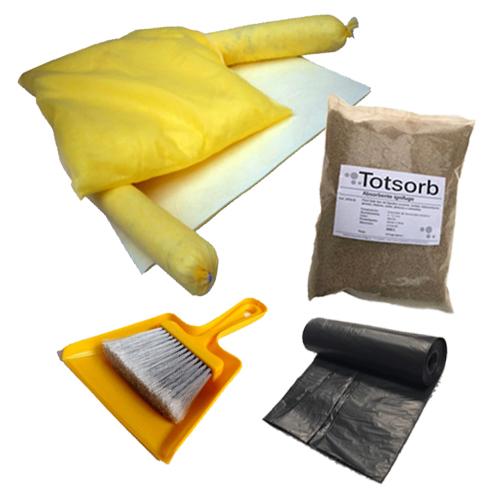 KIT Absorbentes intervención rápida para productos químicos