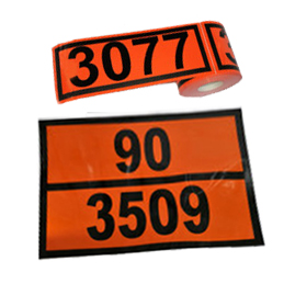 Paneles Naranja adhesivos contenedores